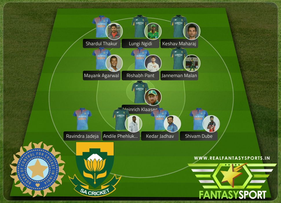 India vs South Africa Dream team originally selected by Chirandeep4OQ 18th March 2020