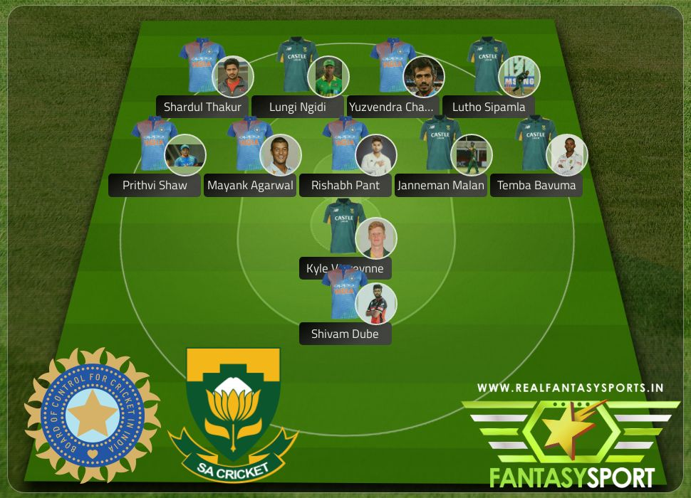 India vs South Africa pick Draftkings prediction Lutho Sipamla