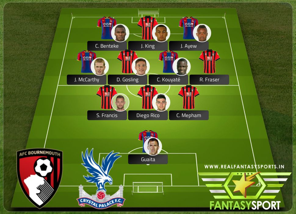 AFC Bournemouth vs Crystal Palace with Dream eleven team C. Benteke