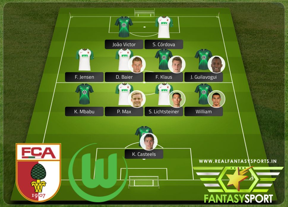 Augsburg vs Wolfsburg with Dream 11 selection F. Klaus