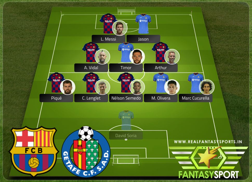 Barcelona vs Getafe include Draftkings prediction M. Olivera