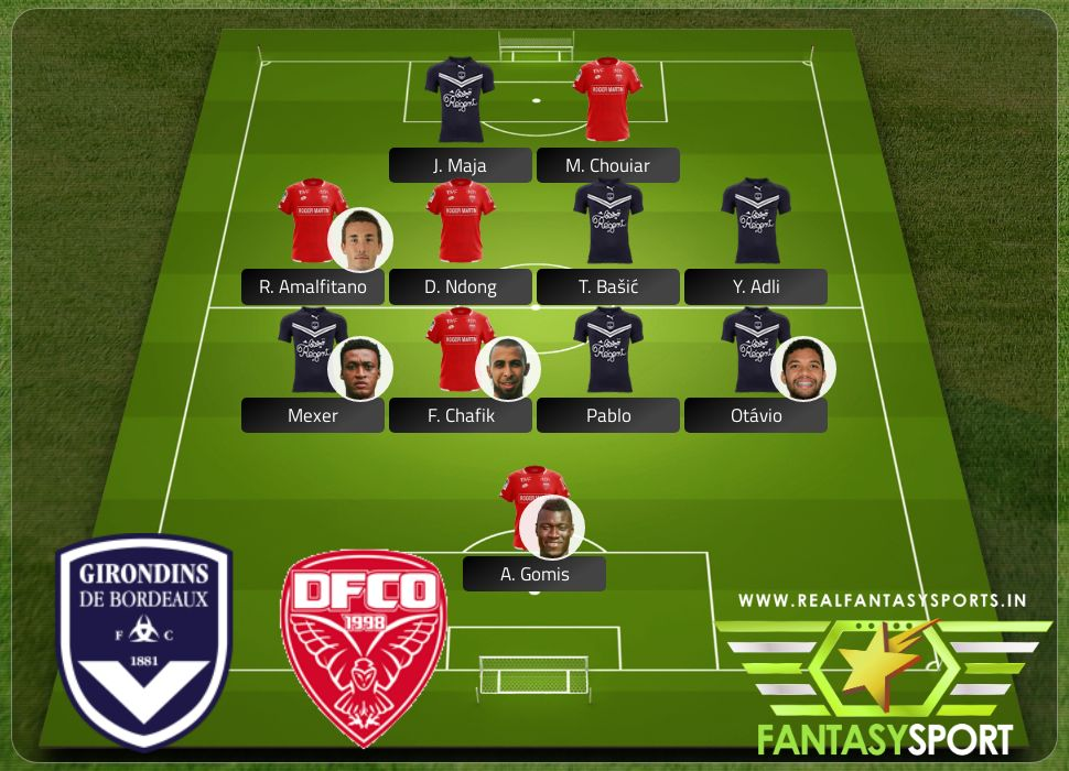 Bordeaux vs Dijon include Fantasy football team J. Maja
