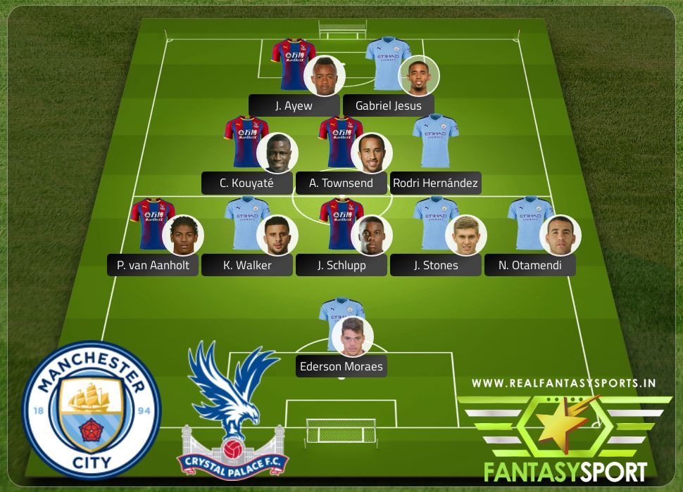 Manchester City vs Crystal Palace include Team Prediction A. Townsend