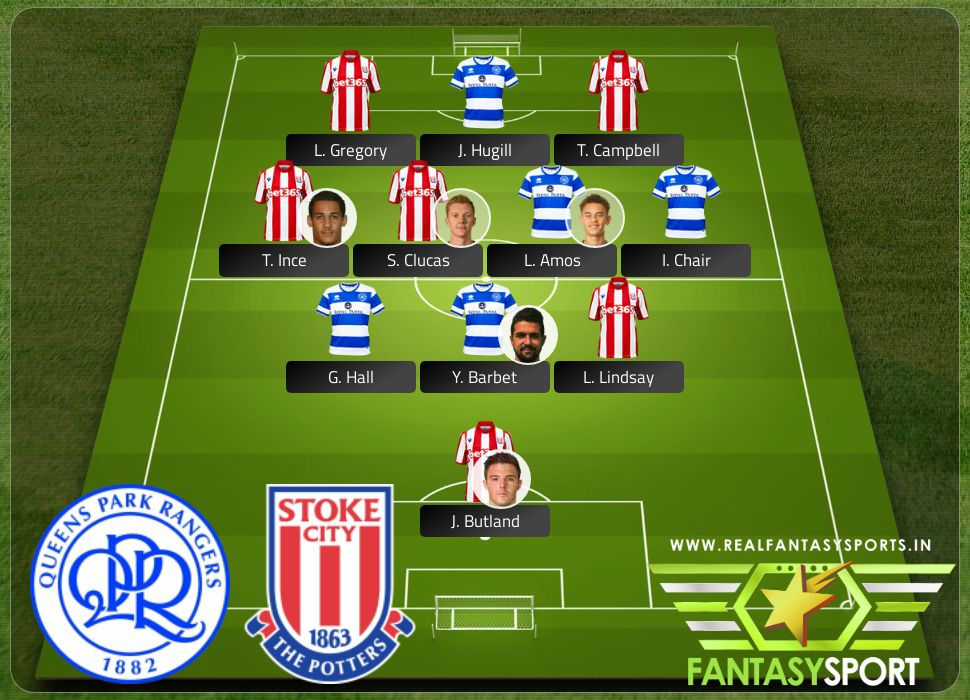Queens Park Rangers vs Stoke City with Dream 11 selection T. Campbell