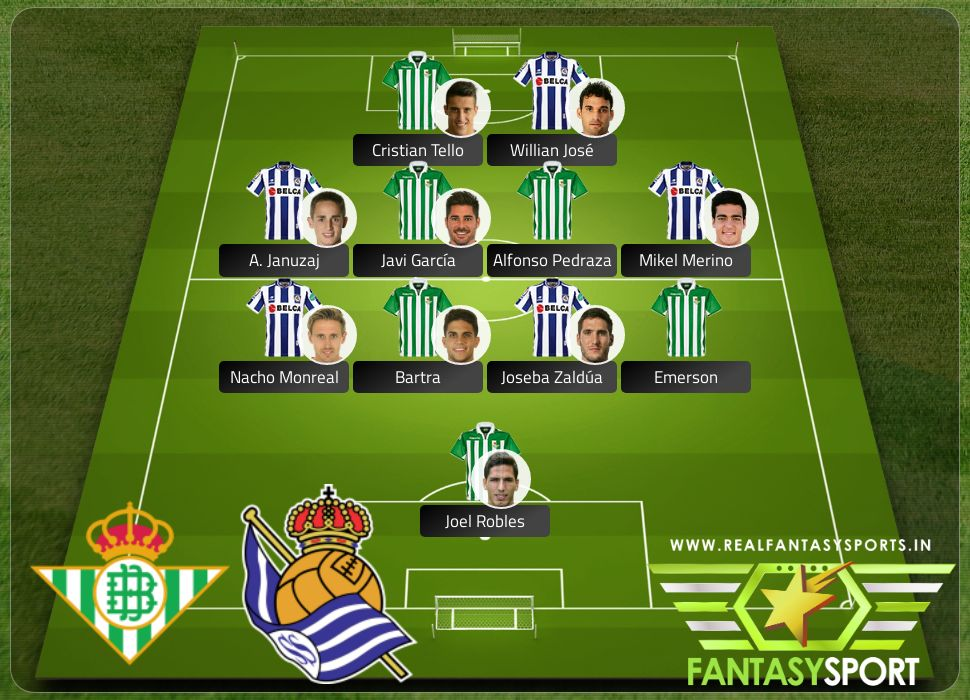 Real Betis vs Real Sociedad include Shared dream11 team selection Willian José