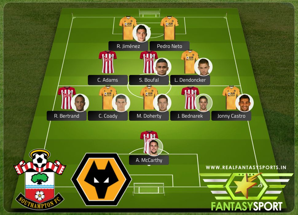 Southampton vs Wolverhampton Wanderers Saturday 18th January