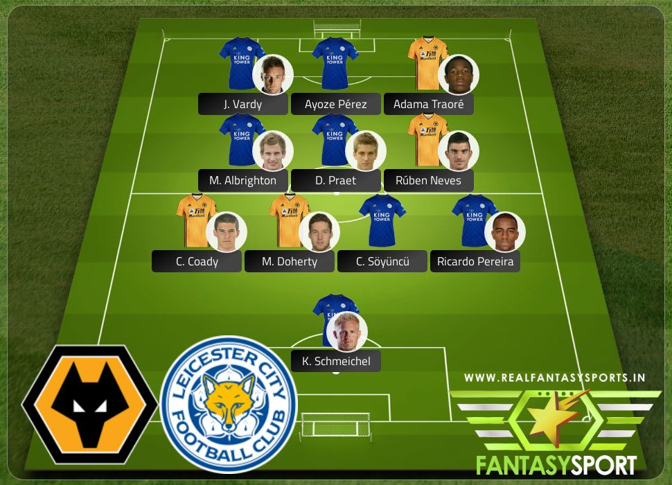 Wolverhampton Wanderers vs Leicester City include Real Fantasy Sports recommendation Ricardo Pereira